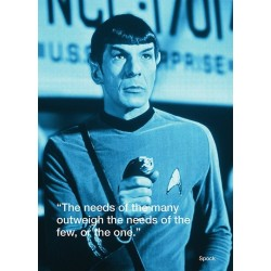 Carte Postale STAR TREK - Spock
