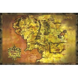 Maxi Poster LORD OF THE RING - Classic Map