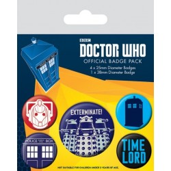 Badge Pack DOCTOR WHO - Exterminate