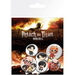 Badge Pack ATTACK ON TITAN - Mix