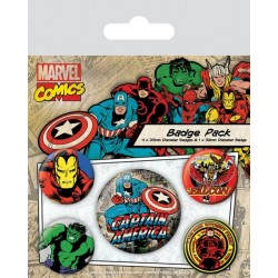 Badge Pack MARVEL RETRO - Captain America