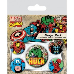 Badge Pack MARVEL RETRO - Hulk