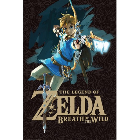 Maxi poster ZELDA BREATH OF THE WILD - Game Cover