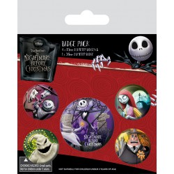 Badge Pack NIGHTMARE BEFORE CHRISTMAS - Characters
