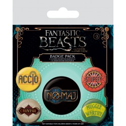 Badge Pack FANTASTIC BEATS - Spells And Phrases