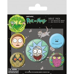 Badge Pack RICK & MORTY - Heads