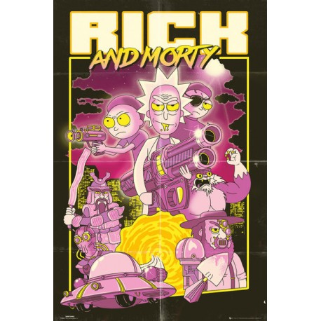 Maxi Poster RICK & MORTY - Action Movie