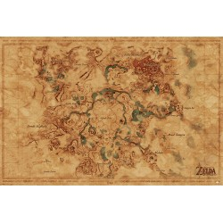 Maxi poster ZELDA BREATH OF THE WILD - Hyrule World Map