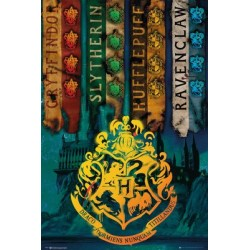 Maxi Poster HARRY POTTER - House Flag