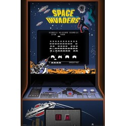 Maxi Poster SPACE INVADERS - Arcade Cabinet