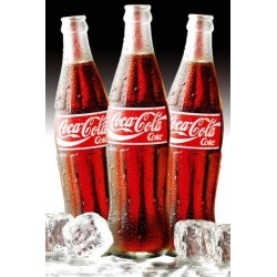 Maxi Poster COCA COLA - Bottles Ice